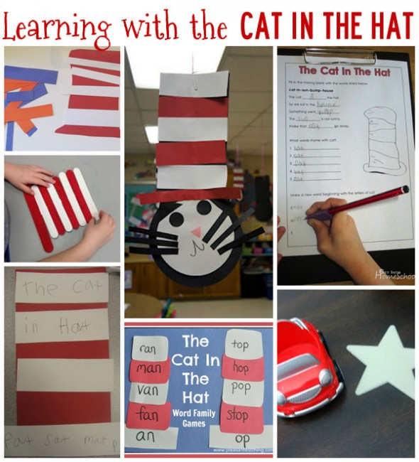 Learning activities to go with the Cat in the Hat! 20 Cat in the Hat Activities!