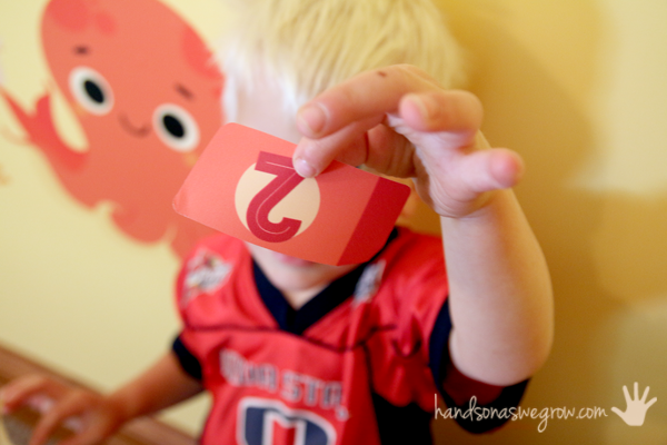 The missing number! A fun game for preschoolers learning numbers!