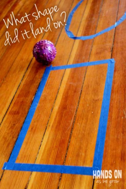 Learning shapes by rolling a ball