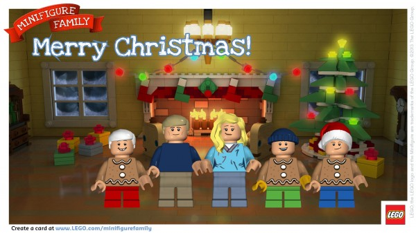 Merry Christmas from our LEGO Minifigure Family!