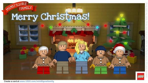 Make a LEGO Minifigure Family Postcard! Merry Christmas! | Hands ...