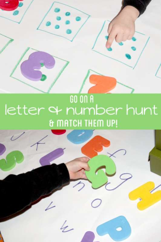 letter to number letter number scavenger hunt for preschoolers to learn 23250 | letter number scavenger hunt for preschoolers 1