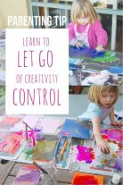 Learning how to let go of creativity control is tricky - but can be done!