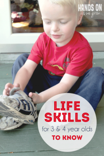 Basic Life Skills for 3 & 4 Year Olds to Know