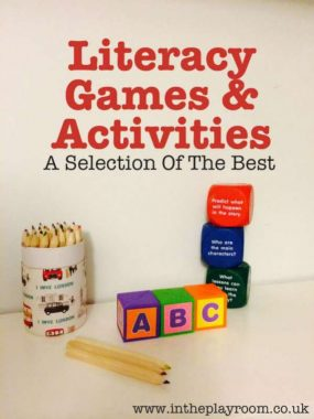 The Best Literacy Games and Activities from In The Playroom