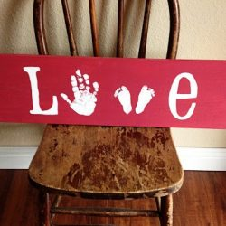 Hand & Footprint LOVE Sign from 517 Creations