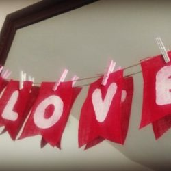Love Banner from Adventures in Wunderland - 1 of 20 LOVE crafts