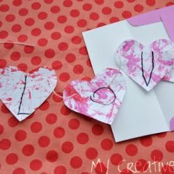 LOVE craft banner from Creative Family Fun