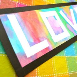 Tape Resist LOVE from Inner Child Fun - 1 of 20 LOVE crafts for kids to make
