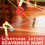 Lowercase Letters String Scavenger Hunt for Kids