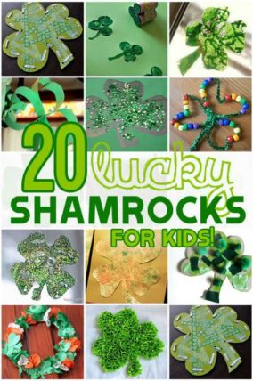 20 lucky shamrock crafts for kids to make!