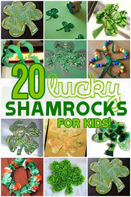 20 Lucky [and so cute!] Shamrock Crafts for Kids to Make this St. Patrick's Day