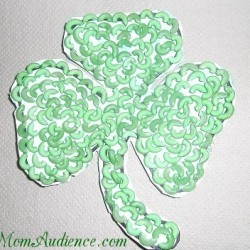 colored pasta shamrock craft