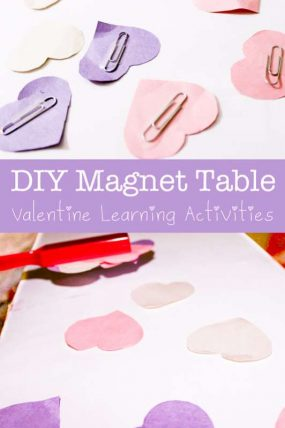 DIY Magnet Activity Table for Valentine's Day Learning