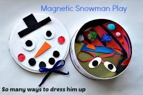 Magnetic Snowman Play Kit from Blog Me Mom