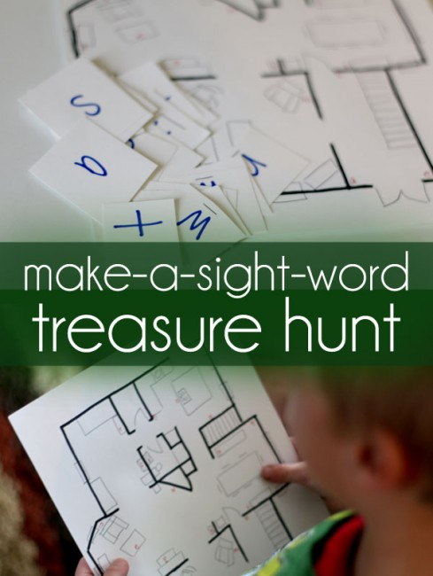 Make a treasure hunt to make sight words!
