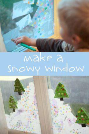 Make a snowy window!