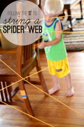 Make a spider web activity -- Follow the S to make the web