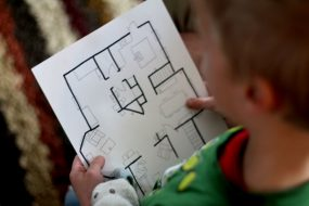 Make a treasure hunt map to find letters of the sight words