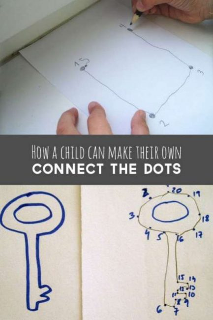 How kids can learn to make connect the dots on their own