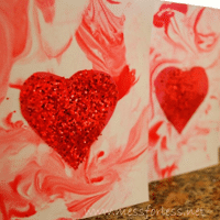 Kid Made Card Valentine for School