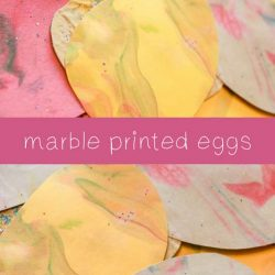 Marble Printed Eggs from hands on : as we grow