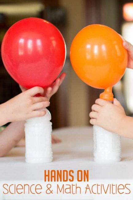 These are hands-on science & math activities my kids would love to do!