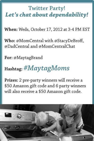 #MaytagMoms Twitter Party
