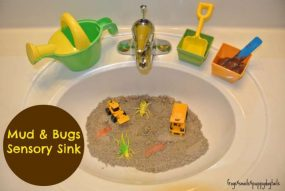 Mud and Bugs Sensory Sink from Frogs and Snails and Puppy Dog Tails