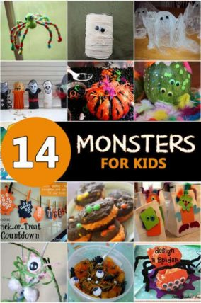 14 Spooky Monster Crafts for kids to make for Halloween