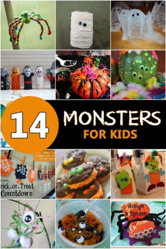 Kids Halloween Crafts Monsters