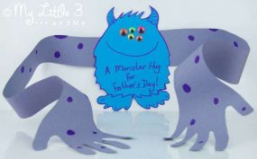 Father's Day Card – A Monster Hug! from My Little 3 and Me