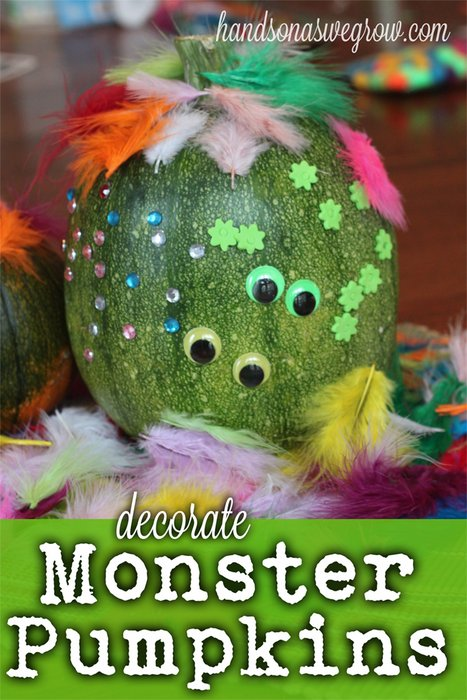 Decorate a Monster Pumpkin