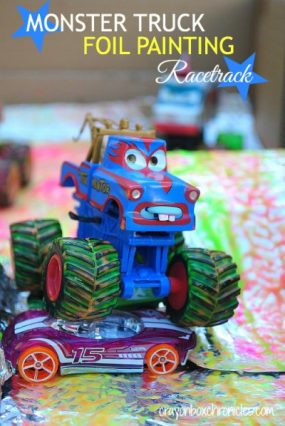 Monster Truck Foil Painting from Crayon Box Chronicles