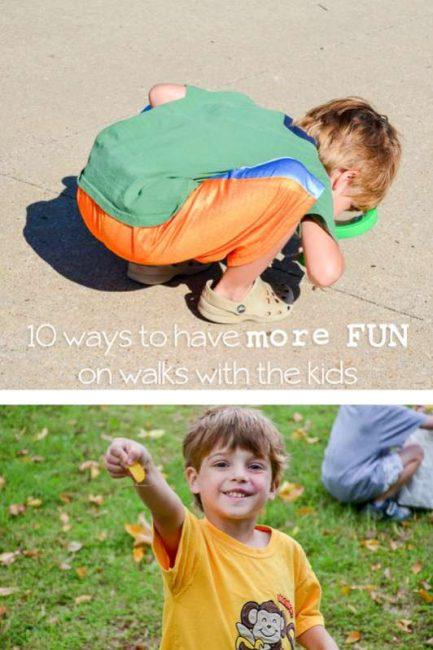What to do when we're out on walks - great ideas!