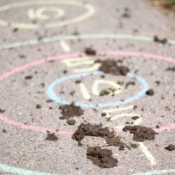 Mud Target Practice - 30 Activities for Kids with Lots of Energy