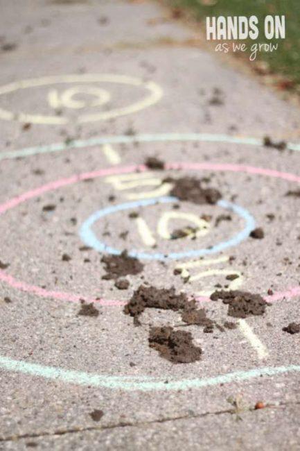 Messy Mud Target Practice for Kids