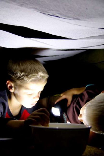 Reading fort for Halloween