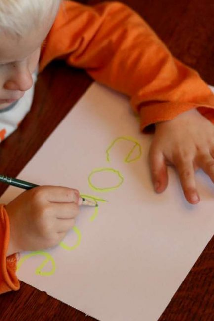 A name tracing activity for preschoolers