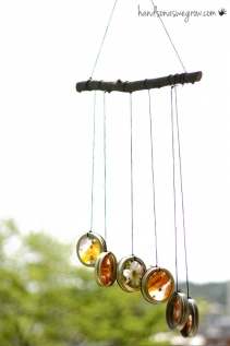 Homemade Nature Suncatcher Wind Chimes