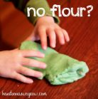 no flour play dough recipe