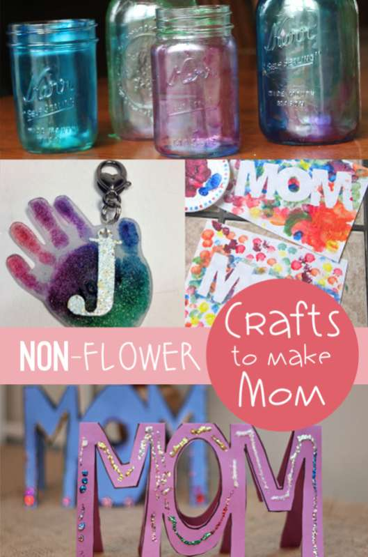 Do your kids make a craft for mom or Grandma for Mother's Day? Here are some NON-FLOWER crafts the kids can make mom!