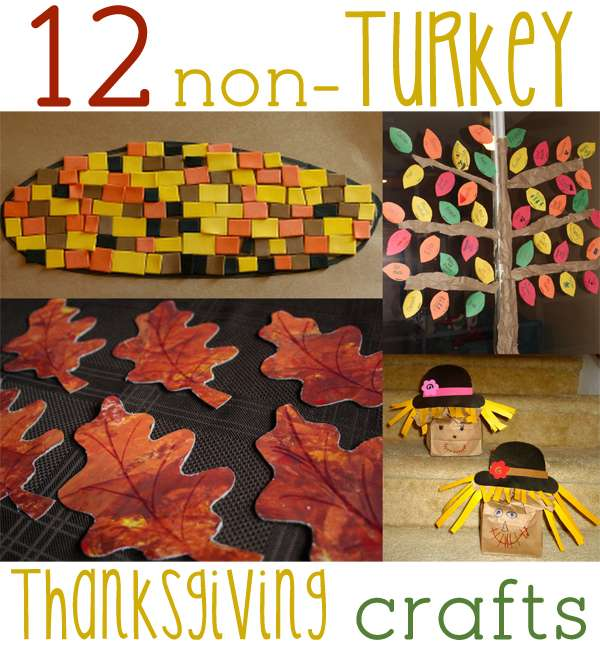 12 non-turkey Thanksgiving crafts that the kids will love to do!
