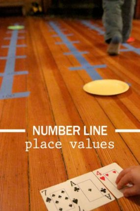 A number line activity for kids to make a number using its place values