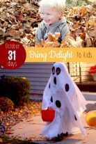 There's 31 days in October to bring delight with fun activities for the kids