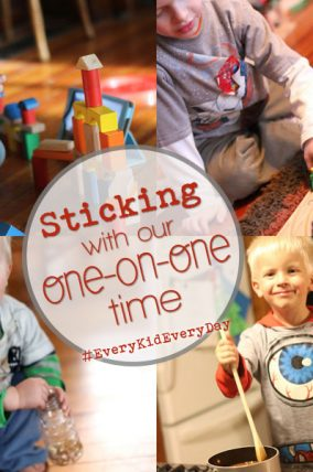 How we're sticking to our resolutions to spend one-on-one time with every kid, every day.