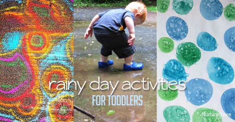Outdoor rainy day activities for toddlers to do