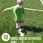 10 Gross Motor Activities YOU can do Outside with the Kids