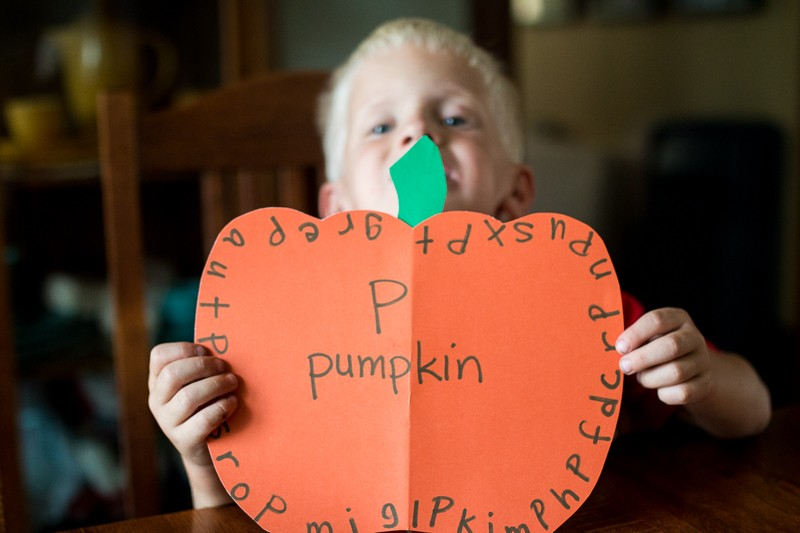 Find the P on the Pumpkin (letter learning and fine motor practice for Fall)