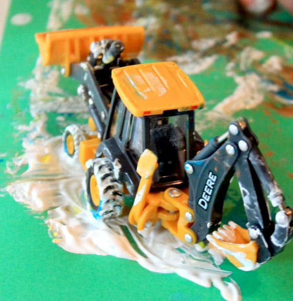 painting-backhoe